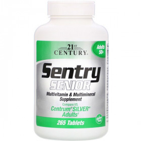 21st Century, Sentry Senior, Multivitamin and Multimineral Supplement, Adults 50plus, 265 Tablets