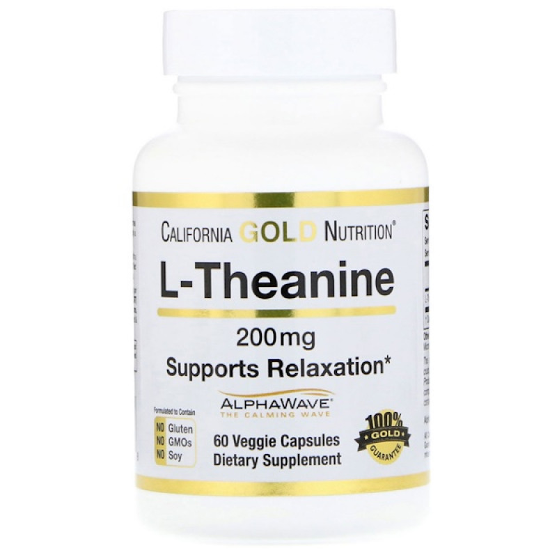 L-Theanine, AlphaWave, Supports Relaxation, Calm Focus, 200 mg, 60 Veggie Capsules