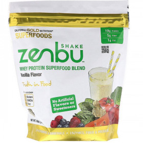 Zenbu Shake, Whey Protein Superfood Blend, Vanilla Flavor, 19 oz (540 g)