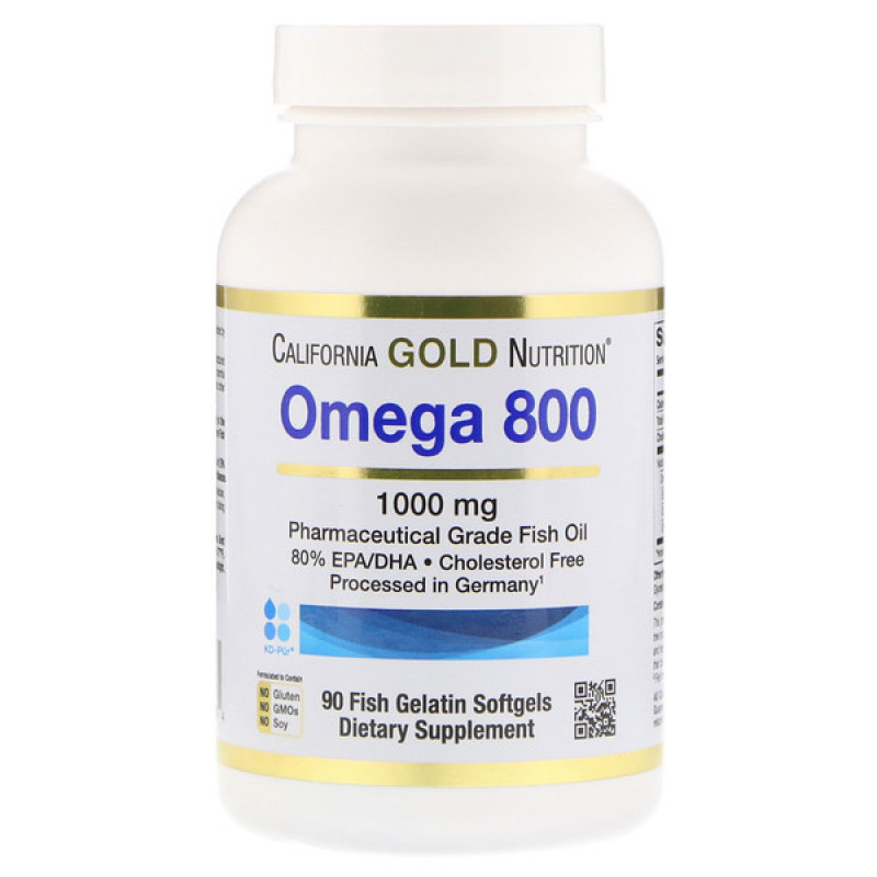 Omega 800 by Madre Labs, Pharmaceutical Grade Fish Oil, 80% EPA/DHA, Triglyceride Form, 1000 mg, 90 Fish Gelatin Softgels