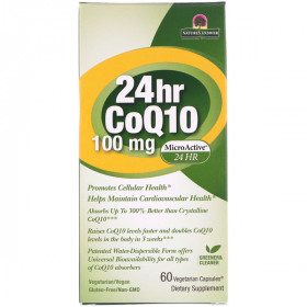 24hr CoQ10, 100 mg, 60 Vegetarian Capsules