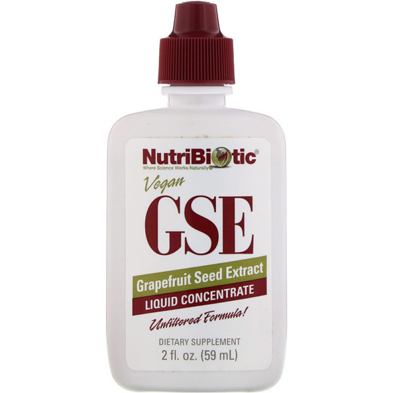 GSE Liquid Concentrate, Grapefruit Seed Extract, 2 fl oz (59 ml)