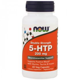 5-HTP, Double Strength, 200 mg, 60 Veg Capsules