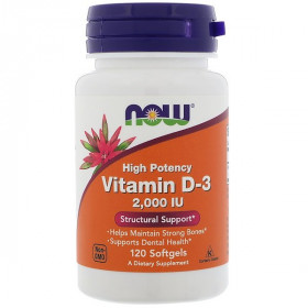 High Potency Vitamin D-3, 2,000 IU, 120 Softgels