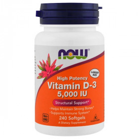 Vitamin D-3, 5,000 IU, 240 Softgels