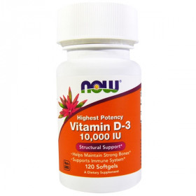 Vitamin D-3, 10,000 IU, 120 Softgels
