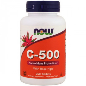 Now Foods, C-500 With Rose Hips, 250 Tablets