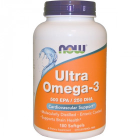 Ultra Omega-3, 500 EPA/250 DHA, 180 Softgels