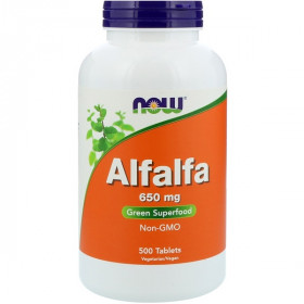 Alfalfa, 650 mg, 500 Tablets