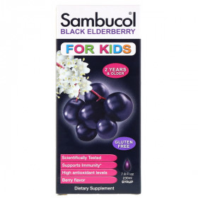 Black Elderberry Syrup, For Kids, Berry Flavor, 7.8 fl oz (230 ml)