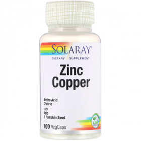 Zinc Copper, 100 VegCaps