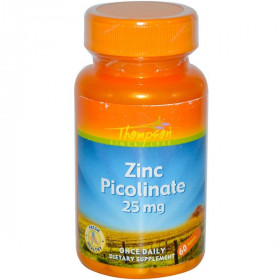Zinc Picolinate, 25 mg, 60 Tablets